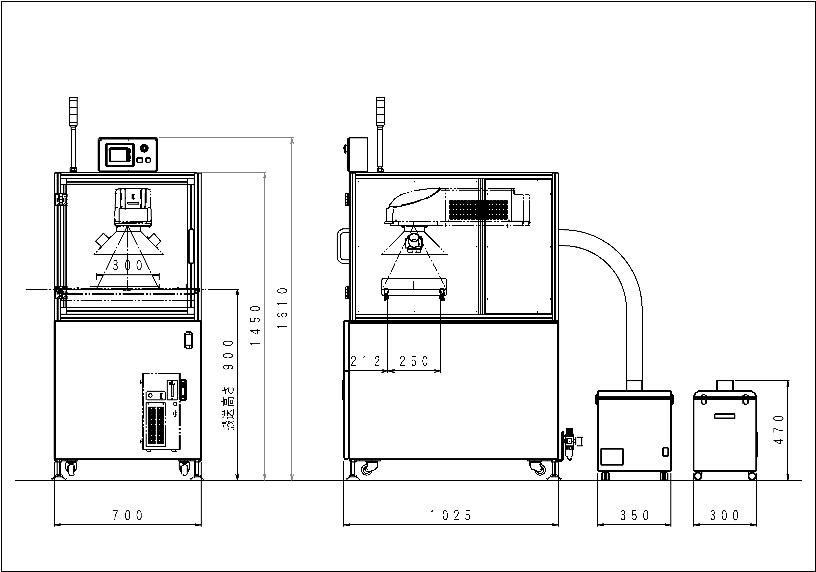 CO2レーザマーキング装置 コンベアタイプ